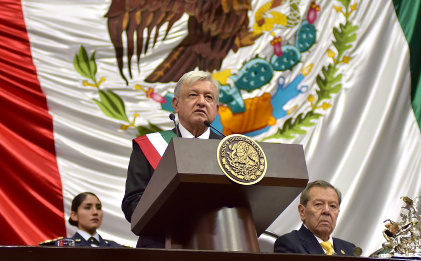El Presidente Andrés Manuel López Obrador ofrece un mensaje a la Nación desde el Congreso de la Unión
