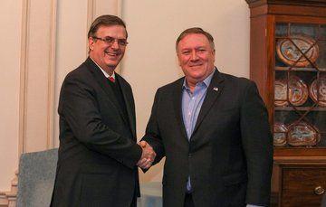 El Secretario de Relaciones Exteriores, Marcelo Ebrard Casaubón se reunió en Washington, D.C. con el Secretario de Estado de Estados Unidos, Mike Pompeo