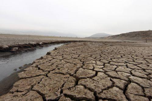 Vista general de suelo erosionado