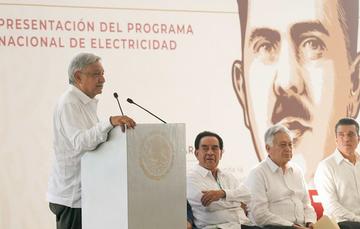 Presidente Andrés Manuel López Obrador presenta el Programa Nacional de Electricidad