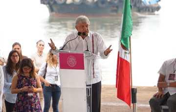 Presidente Andrés Manuel López Obrador durante la presentación del Plan Nacional de Refinación