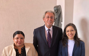 Valeria Rodríguez, Emb. Nebojsa Kaludjerovic y Liliana Padilla Rodríguez