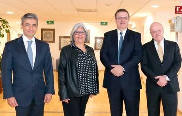 La Secretaria de Economía, el Secretario de Relaciones y el Nuevo Director del IMPI Juan Lozano