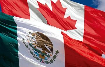 Imagen que muestra las banderas de México y Canadá