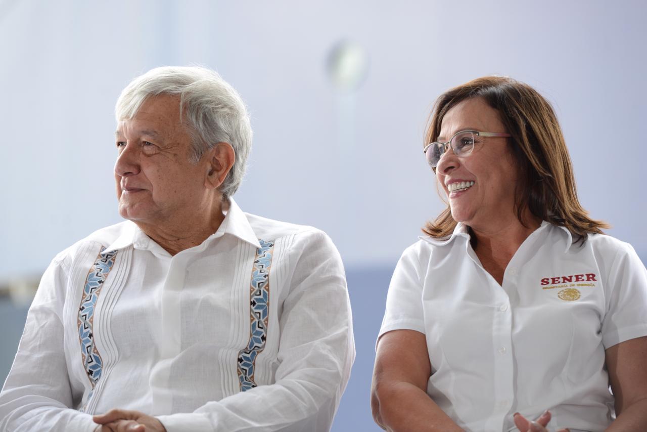 Secretaria de Energía, Rocío Nahle con el Presidente de México, Andrés Manuel López Obrador.