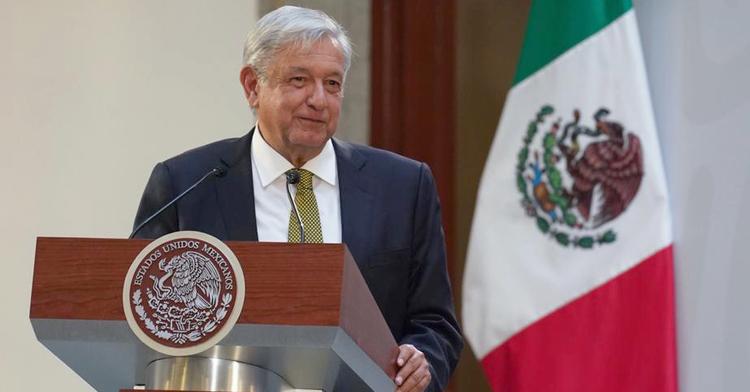 Presidente Andrés Manuel López Obrador durante el anuncio de la nueva política de Salarios Mínimos