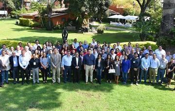 Investigadores representando a cinco CEMIE nacionales  en la apertura del Primer Congreso del CEMIE Eólico.