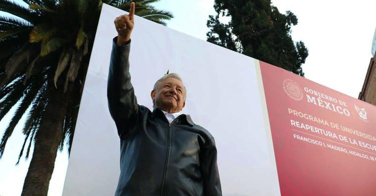 Presidente Andrés Manuel López Obrador durante la presentación del programa Universidades para el Bienestar