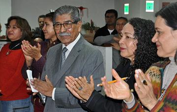 García Jiménez, Encargado de Despacho del Registro Agrario Nacional (RAN) con su equipo de trabajo.
