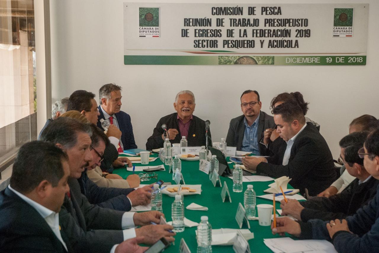 Presentó el comisionado nacional de Acuacultura y Pesca, Raúl Elenes Angulo, el Plan de Trabajo 2019 a la Comisión de Pesca de la Cámara de Diputados.