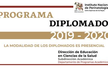 Texto que indica el programa de diplomados 2019 - 2020