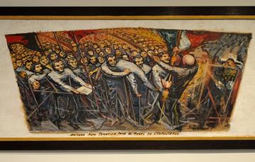 """Obra que forma parte de """"Orozco, Rivera, Siqueiros. La Exposición Pendiente"""" en el Museo de Arte Carrillo Gil"""
