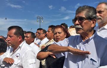 DESTACADA Plutarco García Jiménez, Encargado de Despacho del Registro Agrario Nacional (RAN), durante la Ceremonia de Conmemoración del 104 Aniversario de la Promulgación de la Ley Agraria de 1915.
