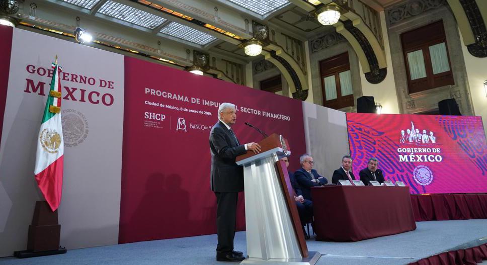 El presidente Andrés Manuel Lopez Obrador presentó el Programa de Impulso al Sector Financiero