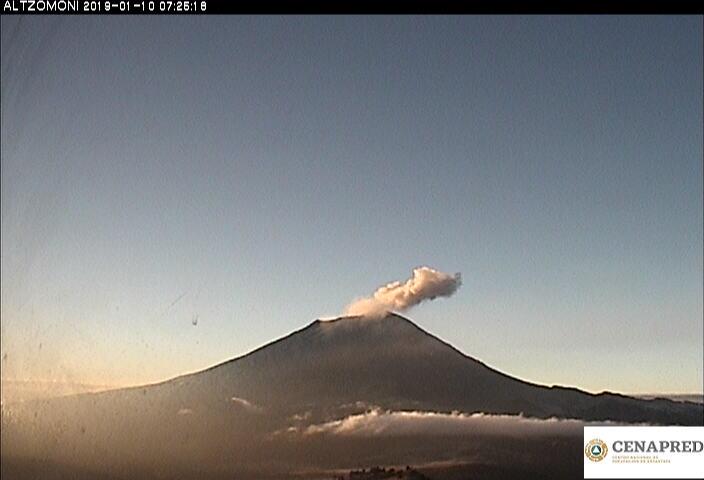 En las últimas 24 horas, por medio de los sistemas de monitoreo del volcán Popocatépetl, se identificaron 189 exhalaciones y 16 minutos de tremor.