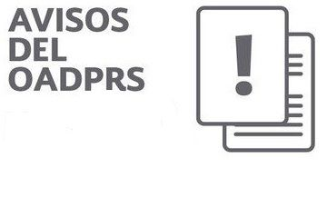 Aviso del OADPRS.