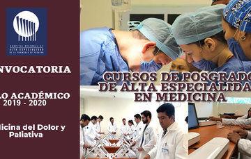 Imagen ilustrativa de la Convocatoria a Cursos de Posgrado de Alta Especialidad en Medicina del HRAEPY.