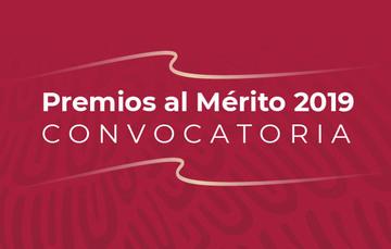 Texto: Premios al Mérito 2019 Convocatoria