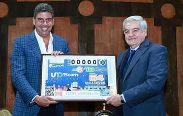 La Lotería Nacional para la Asistencia Pública (LOTENAL) dedicó su Sorteo Mayor No. 3696 al 10° Aniversario de UNOTV