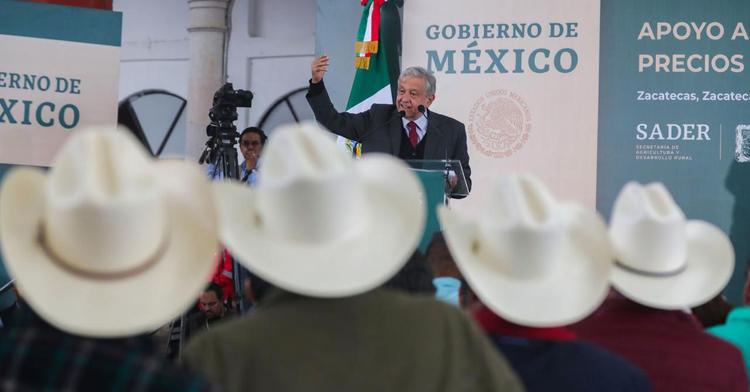 El presidente Andrés Manuel López Obrador presentó el programa de apoyo al campo