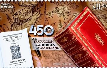 SEPOMEX emite estampilla por los 450 años de la traducción de la Biblia al castellano