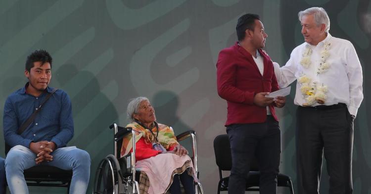 Presidente Andrés Manuel López Obrador en su vista a Ixtlahuaca