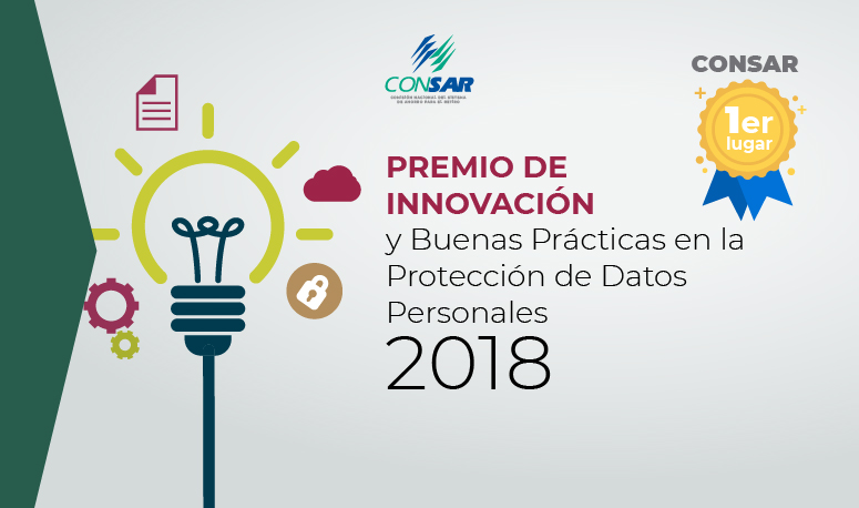 Recibe CONSAR primer lugar en premio de innovación y buenas prácticas en la protección de datos personales otorgado por el INAI.