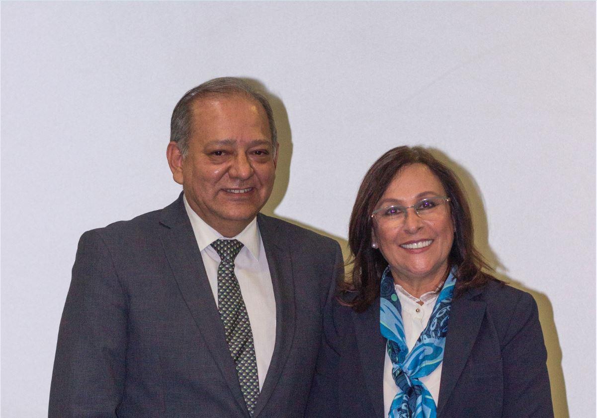 Ingeniero Marco Osorio Bonilla, nuevo Director General del IMP con la Secretaria de Energía, ingeniera Rocío Nahle García