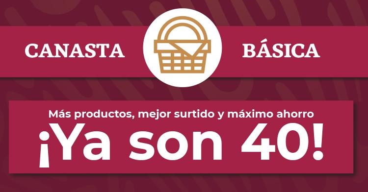 La canasta básica se fortalece con 40 productos