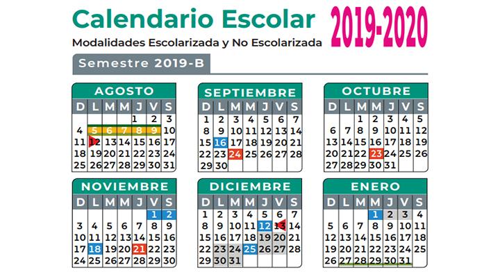 Calendario Escolar Aragon 2020.Calendario Escolar Colegio De Bachilleres Gobierno Gob Mx