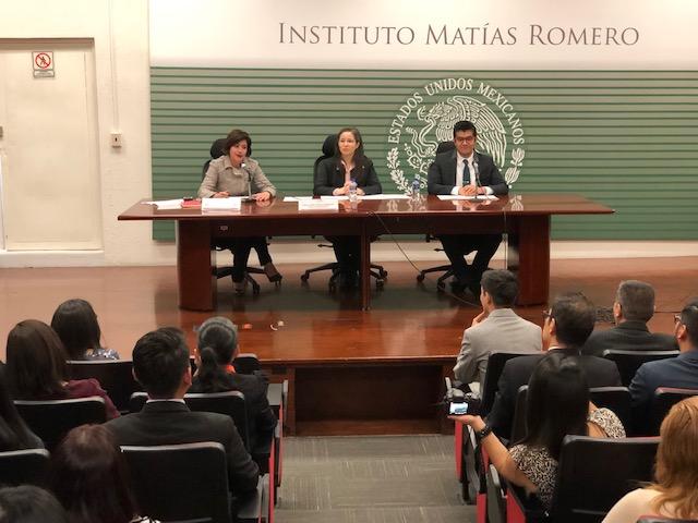 Valentina Riquelme, Liliana Padilla y Mario Cuevas