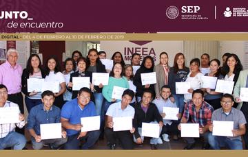 Se reúnen directores de IEEA  con Marcos Bucio