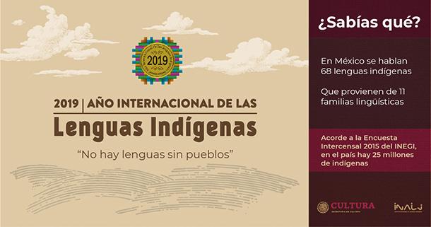2019, Año Internacional de las Lenguas Indígenas