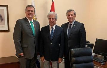 Encuentros del secretario Marcelo Ebrard en Uruguay
