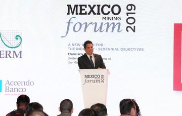 El Subsecretario de Minería durante el evento México mining Forum 2019