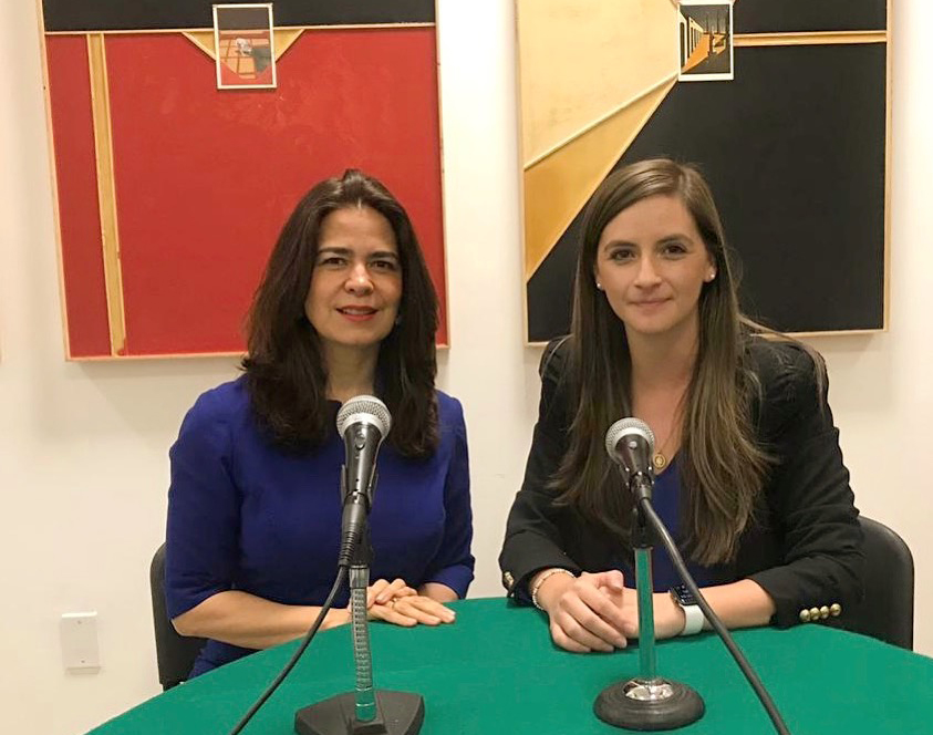 Emb. Marcela Celorio y Ana Teresa Sáenz