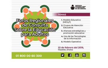 Foros Regionales de Consulta sobre la Educación para Adultos
