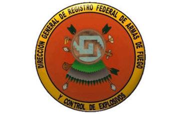 Logo representativo a la Heráldica de la Dirección General de Registro Federal de Armas de Fuego y Control de Explosivos.