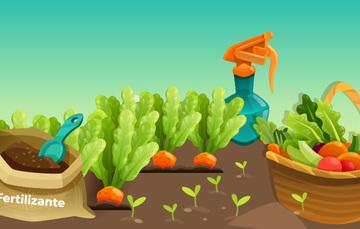 Imagen con fertilizantes en cultivos