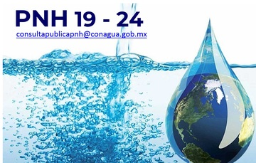 Pnh 19-24 correo consultapublicapnh@conagua.gob.mx Imagen de un mundo adentro de una gota de agua.