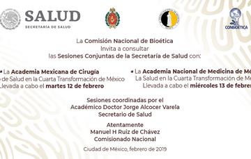 Sesiones conjuntas de la Secretaría de Salud