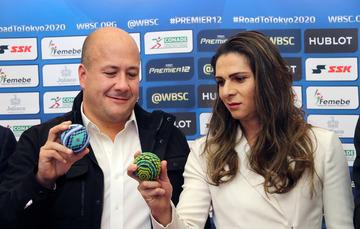 La directora general de la CONADE asistió al anuncio del Torneo Premier 12, que se realizará en noviembre en la ciudad de Guadalajara