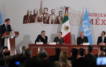 Firma del Acuerdo Marco entre el Gobierno de México y la Oficina de las Naciones Unidas de Servicios para Proyectos