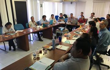 Reunión del personal del CRIP Veracruz con Pablo Arenas, titular de INAPESCA