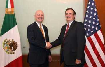 Foreign Secretary Marcelo Ebrard with Nebraska Governor Pete Ricketts