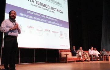 El Delegado Federal de Programas de Bienestar Social, Hugo Flores Cervantes