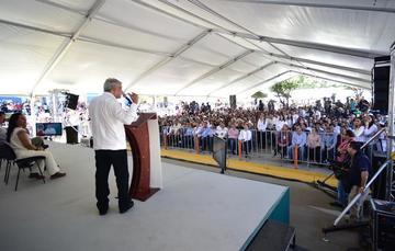 El presidente de México, Andrés Manuel López Obrador en Durango.