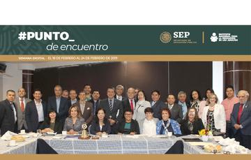 Se reune INEA con clubs rotarios de Puebla