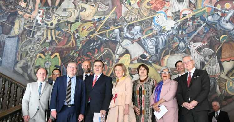 Foreign Secretary Marcelo Ebrard meets with Belgian delegation led by Princess Astrid
