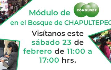 Módulo de Condusef en Chapultepec